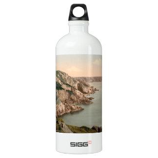 Gouffre Coast, Guernsey, Channel Islands, England Aluminum Water Bottle