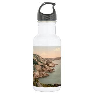 Gouffre Coast, Guernsey, Channel Islands, England Water Bottle