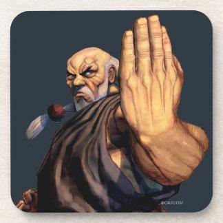 Gouken aumentó la mano posavaso