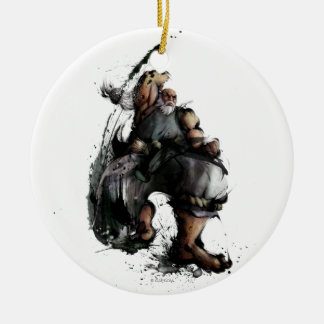 Gouken Chop Double-Sided Ceramic Round Christmas Ornament