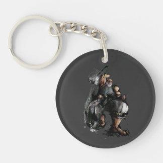 Gouken Chop Double-Sided Round Acrylic Keychain