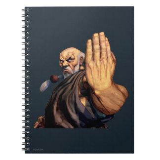 Gouken Raised Hand Spiral Notebook