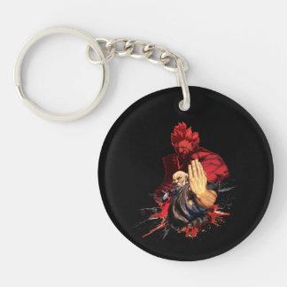 Gouken Vs. Akuma Double-Sided Round Acrylic Keychain