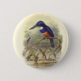 Gould - Four-Coloured Kingfisher Bookstore Promo Button