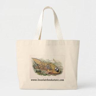Gould - Reeve's Pheasant Jumbo Tote Bag