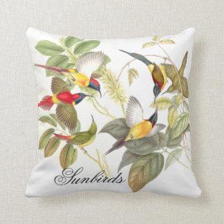 Gould Sunbird Birds Animals Wildlife Throw Pillow