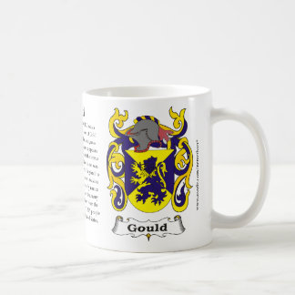 Gould, the origin, meaning and the crest coffee mug