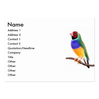 Gouldian Finch Business Cards