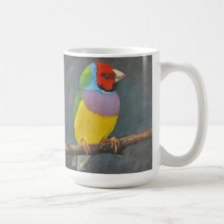 Gouldian Finch Rainbow bird art by Joyce Brandon Coffee Mug