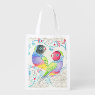 Gouldian Finches Grocery Bags