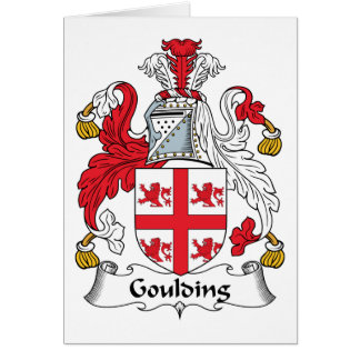 Goulding Family Crest Card