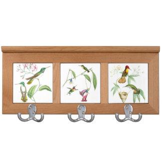Goulds' Hummingbirds Coat Rack