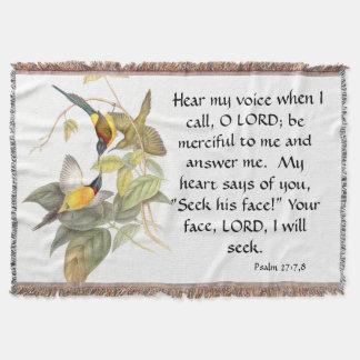 Goulds Sunbird Birds Psalm 27 Throw Blanket