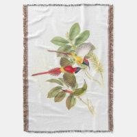 Goulds Sunbird Birds Throw Blanket