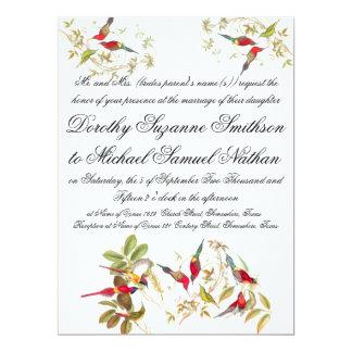 Goulds Sunbird Birds Wedding Invitation