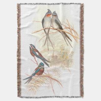 Goulds' Swallow Birds Throw Blanket