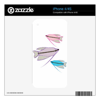 Gourami Fish Decals For iPhone 4