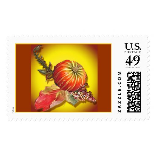 Gourd and Berries Stamp