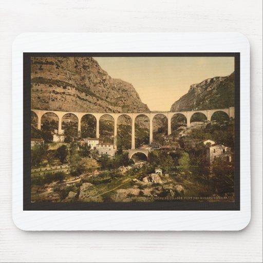 Gourdon, garganta del lobo, el puente, Grasse, fra Tapete De Ratón