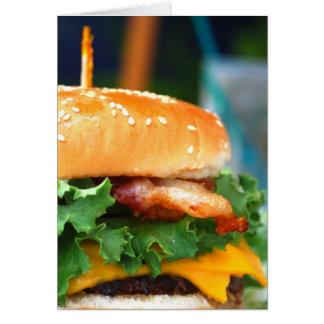 Gourmet Bacon Cheeseburger Greeting Card