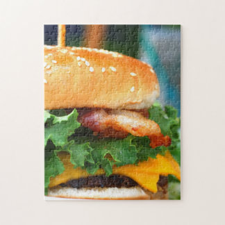 Gourmet Bacon Cheeseburger Jigsaw Puzzle