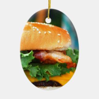 Gourmet Bacon Cheeseburger Ornaments