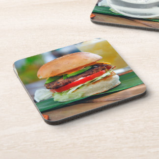 Gourmet Burger and Smoothies Beverage Coaster