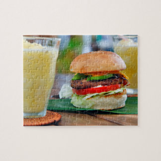 Gourmet Burger and Smoothies Jigsaw Puzzle