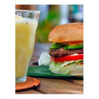 Gourmet Burger and Smoothies Postcard