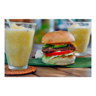 Gourmet Burger and Smoothies Poster