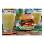 Gourmet Burger and Smoothies Print