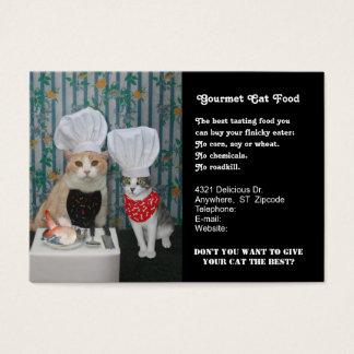 Gourmet Cat Food Business Card