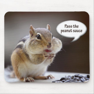 Gourmet Chef Chipmunk Picture Mouse Pad