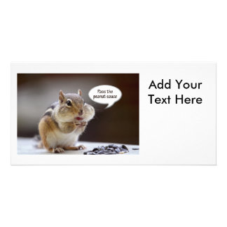 Gourmet Chef Chipmunk Picture Picture Card