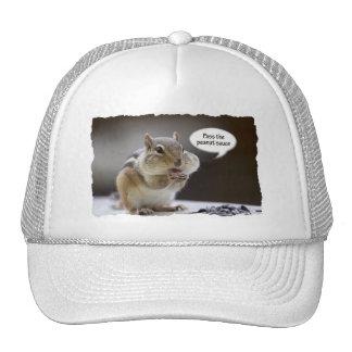 Gourmet Chef Chipmunk Picture Trucker Hats