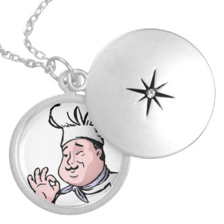 GOURMET CHEF SILVER PLATED NECKLACE
