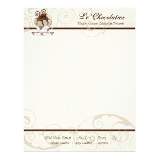 Gourmet Chocolate Mousse Business Cream Stationery
