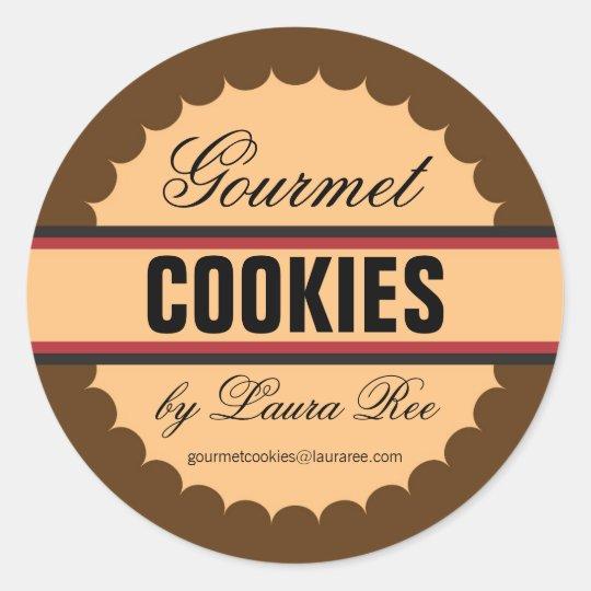 Gourmet Cookie Sticker Zazzle Com