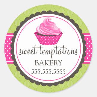 Gourmet Cupcake Bakery Classic Round Sticker