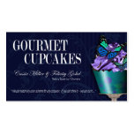 """Gourmet Cupcakes"" - Fancy Desserts, Pastries Business Cards"
