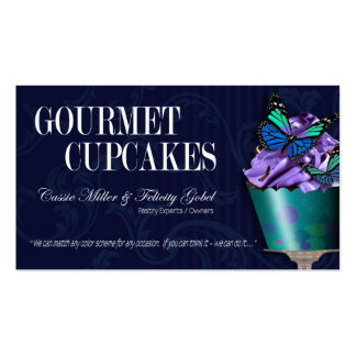 """""""Gourmet Cupcakes"""" - Fancy Desserts, Pastries Double-Sided Standard Business Cards (Pack Of 100)"""