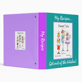 Gourmet-Divas Recipes notebook 3 Ring Binder