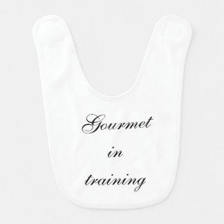 Gourmet in Training Baby Bib