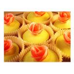 Gourmet Pistachio Cupcakes with Rose Postcard
