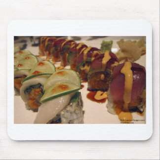 Gourmet Sushi Plate Fine Art Gifts Tees Mugs Etc Mouse Pads
