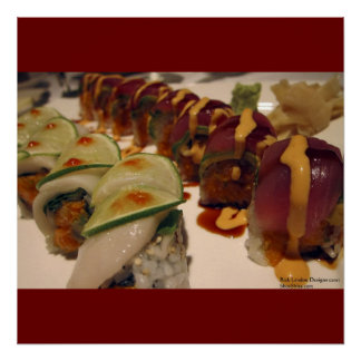 Gourmet Sushi Plate On Fine Art Posters Poster