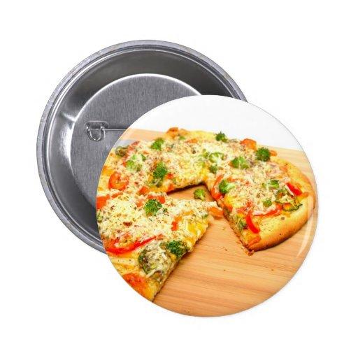Gourmet Veggie Pizza 2 Inch Round Button