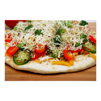 Gourmet Veggie Pizza Poster