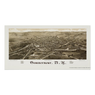Gouverneur, NY Panoramic Map - 1885 Poster