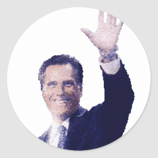 Gov. Mitt Romney Round Stickers